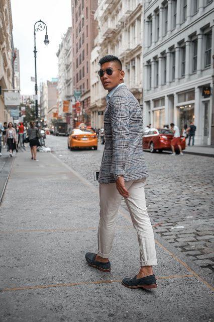 Hur man bär: Summer Business Casual Two Ways |  Mens mode sommar.