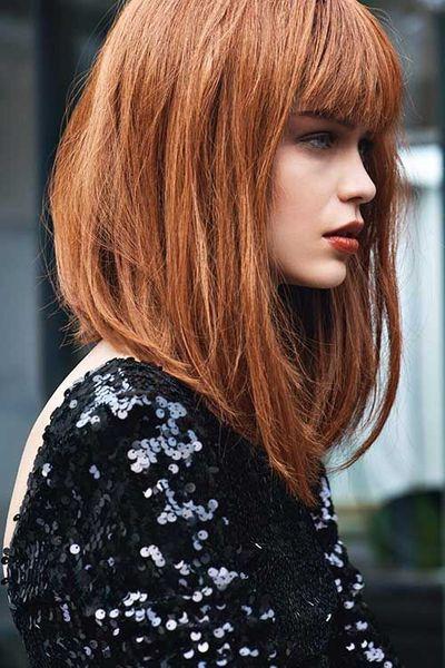 Concave Fringe Haircut Ideas - fashiondiys.com 2020 |  Hår.
