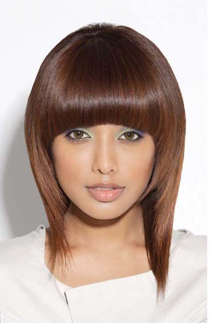 Concave Fringe Haircut Ideas 2020 |  Fringe hårklippning