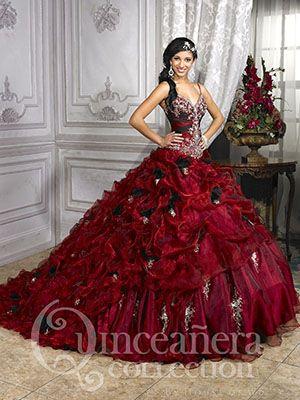 rödbrun kvittenklänning med svans    Quinceanera klänningar, Pretty.