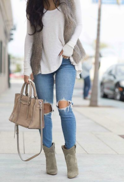 100+ blus + rippade jeans # falloutfits # kjoloutfits # vinter.