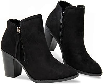Amazon.com |  MVE Skor Kvinnor Snygg Bekväm Low Block Heel.