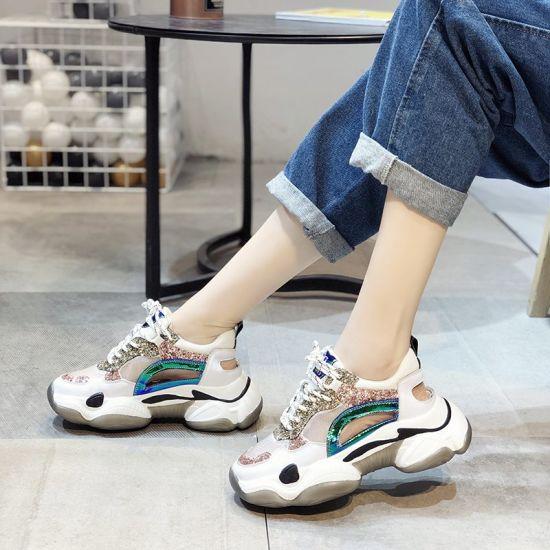 China Höga sneakers för kvinnor, Sneakers andas sport damer.