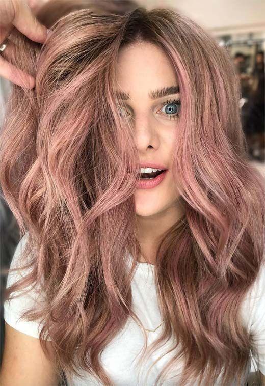 53 vackra sommarhårfärger, trender och tips |  Ros hårfärg.
