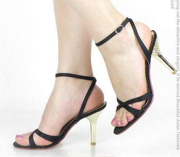 kvinnorsandaler 2013 mode rabatt hög 9,7 häl sandaler skor.