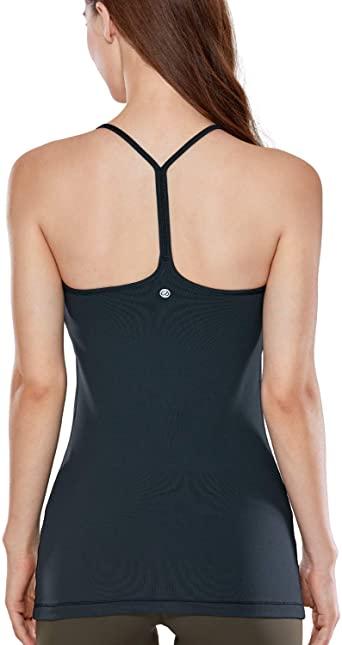 CRZ YOGA Träningströjor för spagettirem för kvinnor med inbyggd.