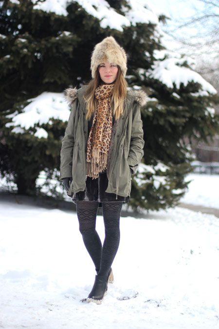 Chicago Winter Fashion - Winter Street Fashion i Chicago.