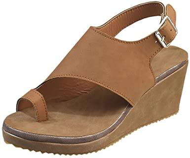 Amazon.com: BEAUTYVAN Wedges Mules for Women, Summer Ring Peep Toe.