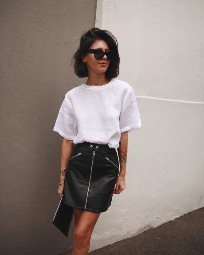 Läder kjol outfit idéer - 30 sätt att bära läder Skir