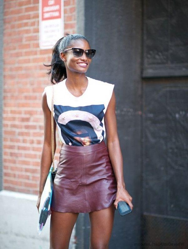 29 läder kjolar att bära i sommar 2020 - StyleFavourite.c