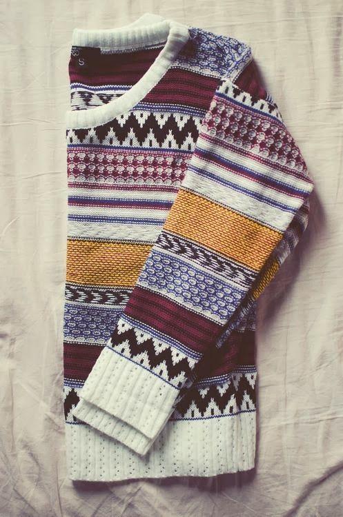 Comfy Casual Aztec Tröja    Mode, stil, tyg