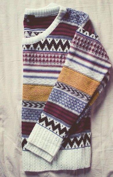 gulblå svart vinröd tröja vintertröja    Mode .
