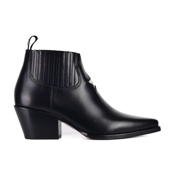 Handla Dior damskor i svart läder Dior LA Western.