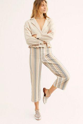 Patti Stripe Pants |  Kvinnors klänningbyxor, mode, byxor för kvinnor