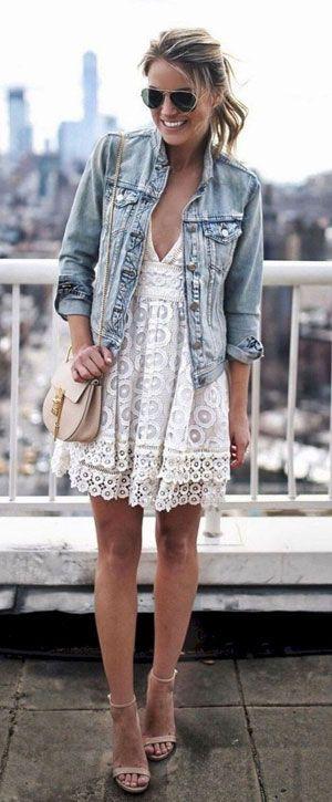 40 snygga idéer för jeansjacka för vår |  Mode, Boho.