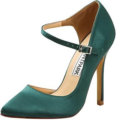 Amazon.com |  ElegantPark höga klackar för kvinnor spetsiga tå D'Orsay.