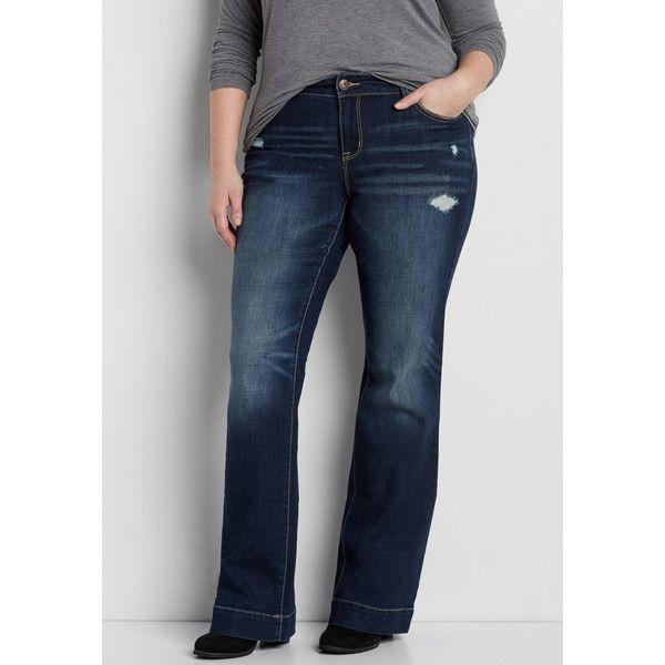 maurices Plus Size - Ellie Dark Wash Bootcut Jeans, Dam, ($ 37.