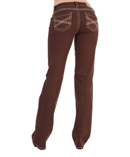 Adiktd Brown Trespassing Mid-Rise Bootcut Jeans - Kvinnor    Bäst.