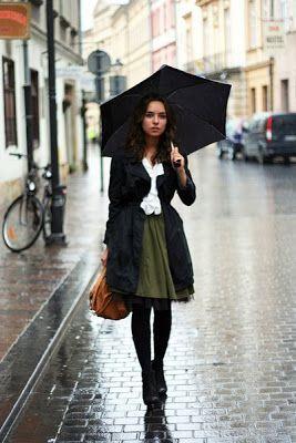 Inspirationer för regnig dagstil 2020 (med bilder)    Regnig dag .
