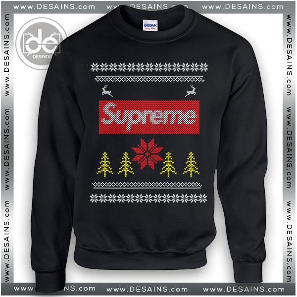 Bästa fula julskjorta idéer Supreme Logo tröja Revi