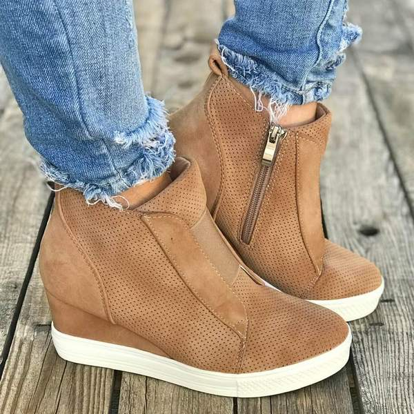 Skor - Mode kvinnors höst vinter kil sneakers - Jollma