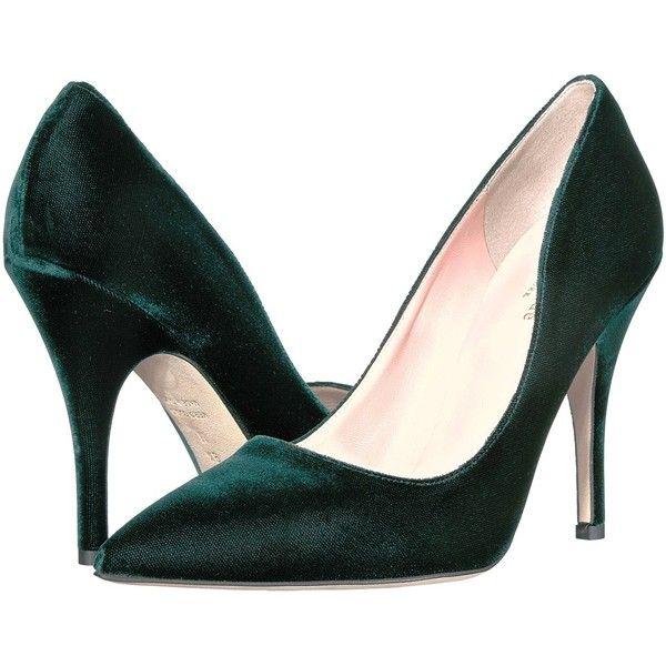 Kate Spade New York Lakrits (smaragdgrön sammet) höga klackar.