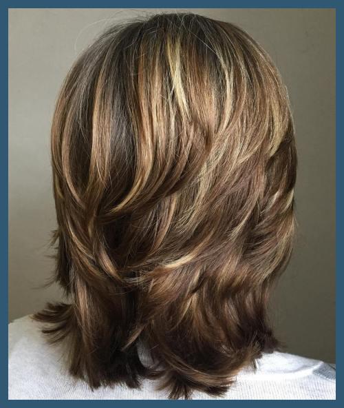 Medium hårklippningar med lager 107580 70 Ljusaste Medium längd.