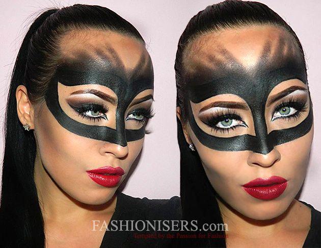 Catwoman Makeup Tutorial för Halloween |  Catwoman makeup, Cat.
