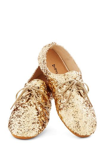 Scintillating Steps Flat - Flat, Gold, Party, Holiday Party.