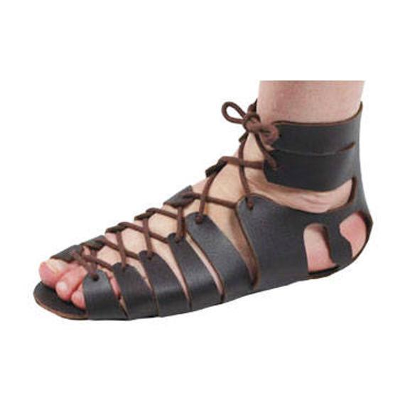Romerska sandaler Lädersandaler Gladiatorsandaler Romerska sandaler    Et