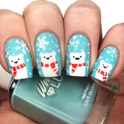 45 festliga jul nagelkonstidéer - enkla mönster för semester Nai