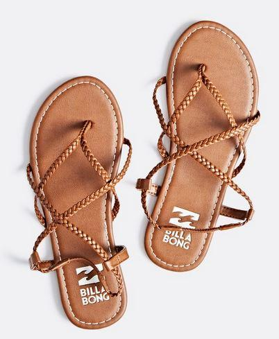 Billabong Womens Crossing Over 2 Brown Strappy Sandals - The.