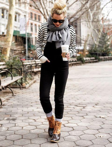 Hur man bär snökängor och ändå ser ut som en dam  Avslappnad vinter.