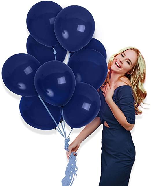 Amazon.com: Treasures Gifted Matte Navy Blue Balloons 72 Pack för.