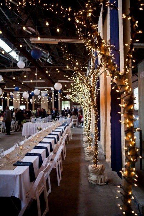 25 bästa marinblå festdekorationer |  Hochzeit-teman, Tischdeko.