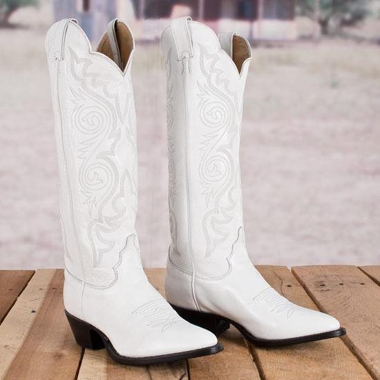 Justin damfärgade vita stövlar    Vita cowboy stövlar, Cowgirl.