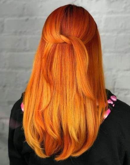 Bästa hårfärg orange sommarsminkidéer #hår #makeup |  Hår.