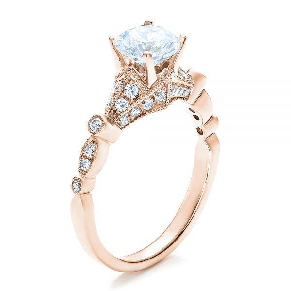 18k roséguld unik förlovningsring - Vanna K # 100077 - Seattle.