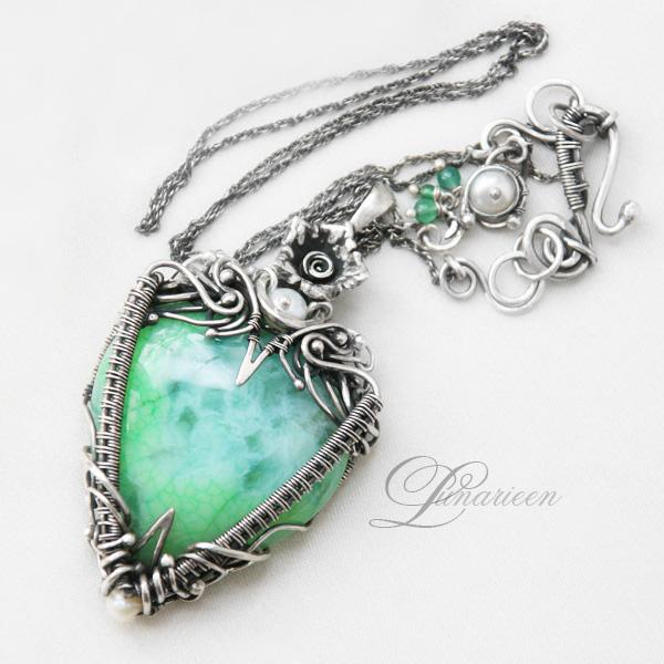 Handgjorda Wire Wrapped Gemstone Smycken av Lunarie