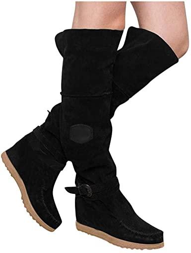Amazon.com: Guoxn mocka för kvinnor över knäet lår hög stretch.