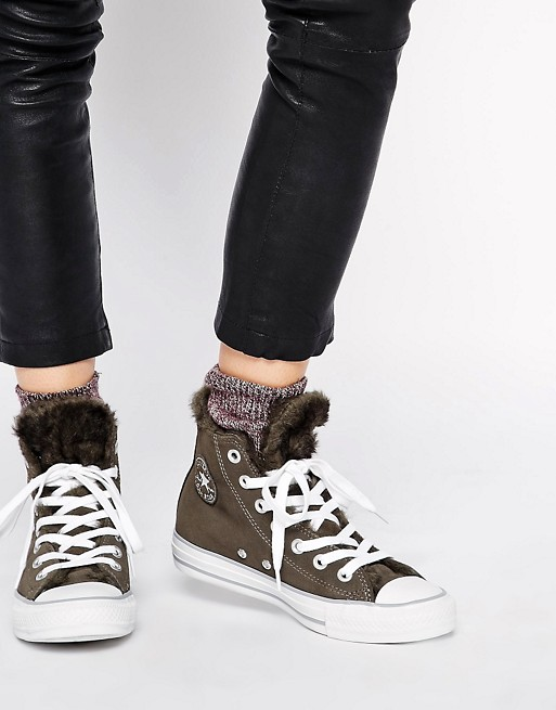 Converse Chuck Taylor All Star Faux Fur Lined Sneakers    SOM