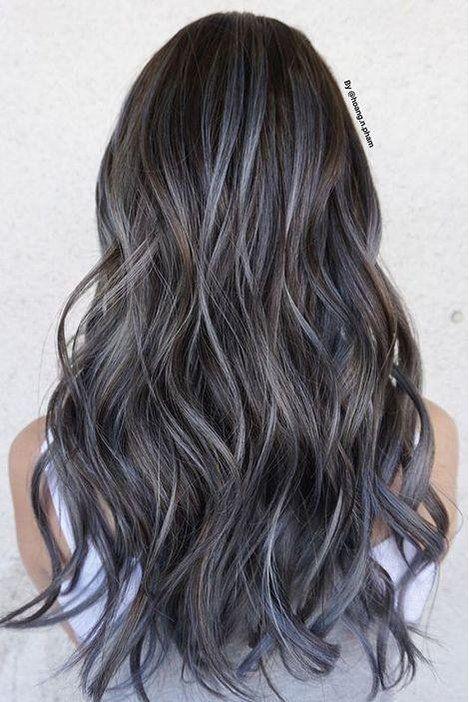 De bästa idéerna för hårfärg för brunetter |  Brunett hårfärg, Ash.