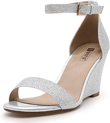 Amazon.com    IDIFU damklackar sandaler med kilklack 3 tum.