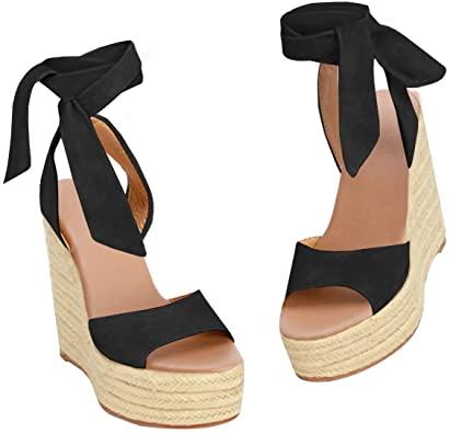 Amazon.com    Syktkmx Womens Platform Espadrille Slingback Sandaler.
