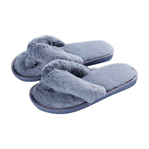 Mode plysch flip-flops mjuka hem inomhus spa sovrum tofflor.