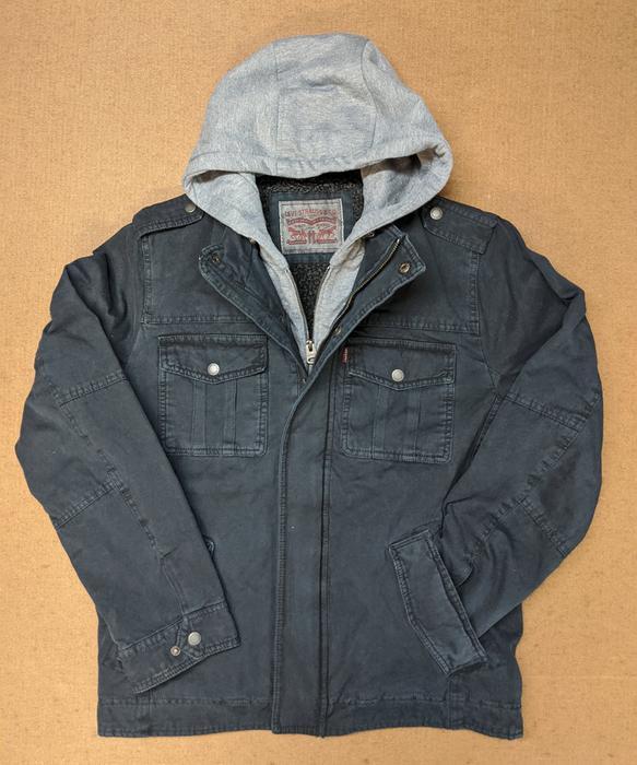 Levi's Hooded Jacket för män - Navy - Dave's New Yo