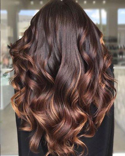 Idéer för hårfärg för brunetter |  Redk