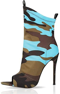 Amazon.com |  Kvinnors stövlar ankelstövlar för kvinnor - Sexig stilett.
