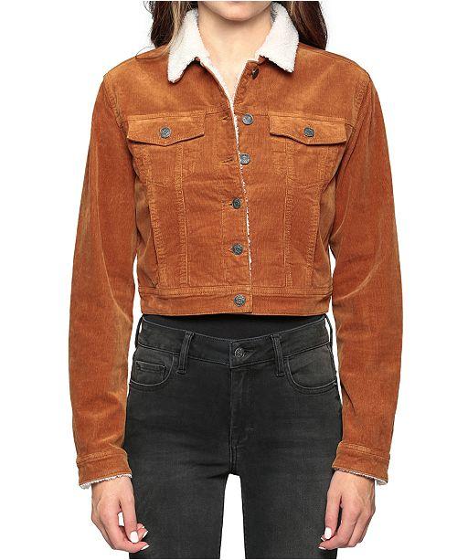 Hidden Jeans Sherpa-Lined Corduroy Jacket & Reviews - Jackor.
