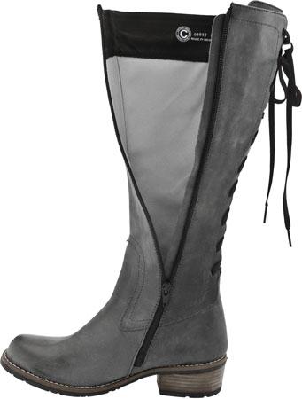 Grå läderstövlar för kvinnor - Boot